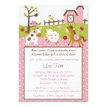Abby's Farm Farm Animal Baby Shower Invitations