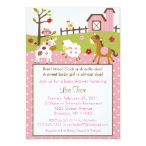 Abby's Farm Farm Animal Baby Shower Invitations