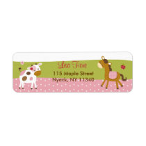 Abby's Farm Girl Farm Animal Address Labels