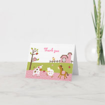 Abby's Farm Girl Farm Animal Thank You Note Cards