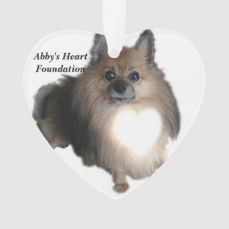 Abby's Heart Foundation Heart Christmas Ornament