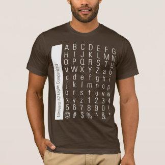 ABC123 Univers 47 Light Condensed Rev T-Shirt