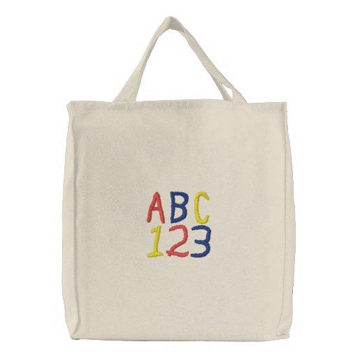 ABC 123 Childrens Tote Bag