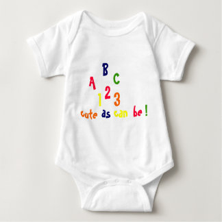ABC, 123, Cute as Can Be! T-shirt