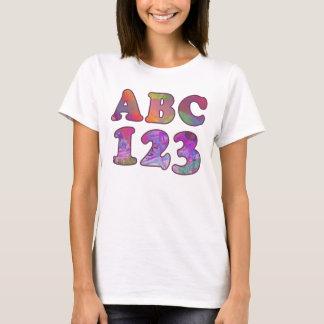 ABC 123 DE NUEVO A LA CAMISETA DE LA ESCUELA