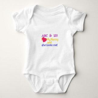 ABC & 123 I My Nanny & She Loves Me! Baby Bodysuit