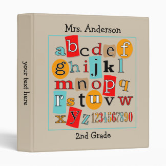 ABC 123 Teacher's Classroom Binder
