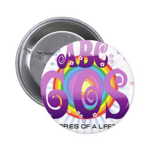 ABC 60s 2 Inch Round Button
