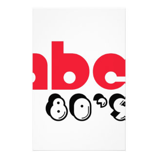 ABC 80 s Personalized Stationery