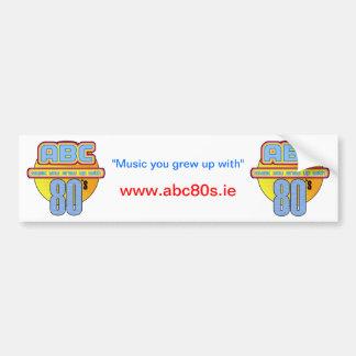 ABC 80s Car Bumper Sticker