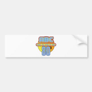 ABC 80s Ireland Bumper Sticker