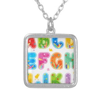 ABC adornado fijado, A-L de las letras Colgante Cuadrado