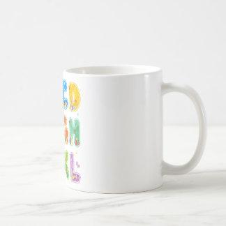 ABC adornado fijado, A-L de las letras Taza De Café