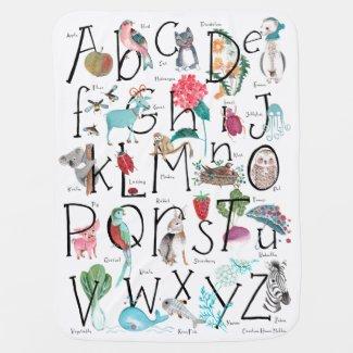 ABC Alphabet | Baby Stroller Blanket