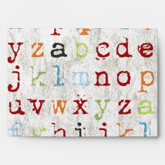 ABC Alphabet Envelope