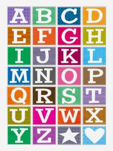 ABC Alphabet T Shirt