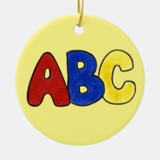 ABC Alphabet Teacher Ornament