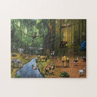 ABC ANIMAL 11x14 Puzzle with Gift Box