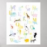 ABC animal en colores pastel imprime Impresiones