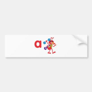 ABC Animals - Adam Ant Bumper Sticker