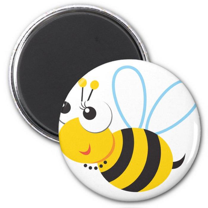 ABC Animals Betty Bee 2 Inch Round Magnet