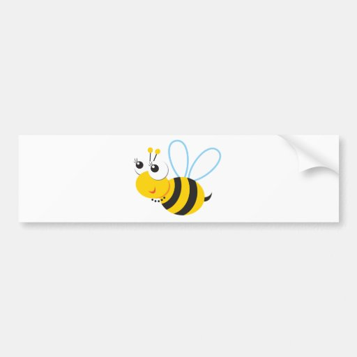 ABC Animals Betty Bee Bumper Stickers