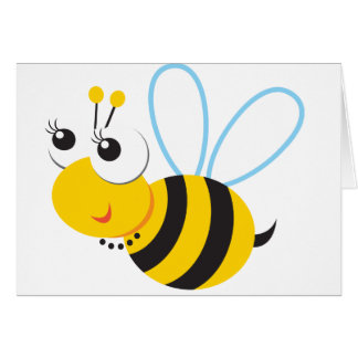 ABC Animals Betty Bee Greeting Card