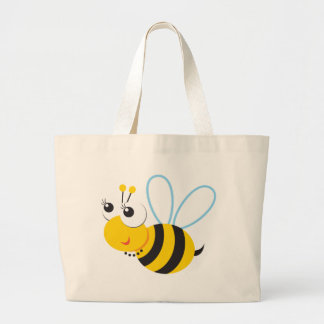 ABC Animals Betty Bee Large Tote Bag