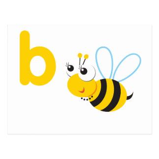 ABC Animals Betty Bee Postcard