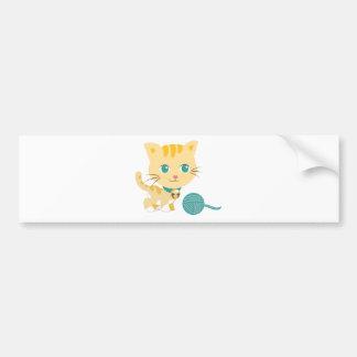 ABC Animals - Carrie Cat Bumper Sticker