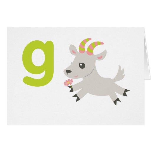 ABC Animals - Gabby Goat Card