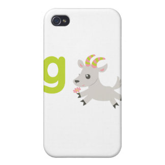 ABC Animals - Gabby Goat Case For iPhone 4