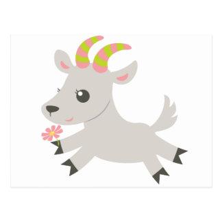 ABC Animals Gabby Goat Postcard