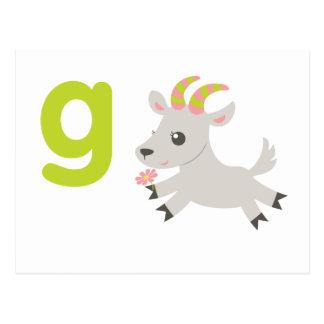 ABC Animals - Gabby Goat Postcard