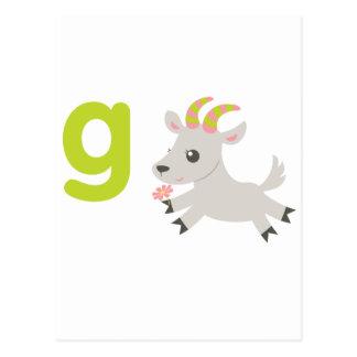 ABC Animals - Gabby Goat Post Card