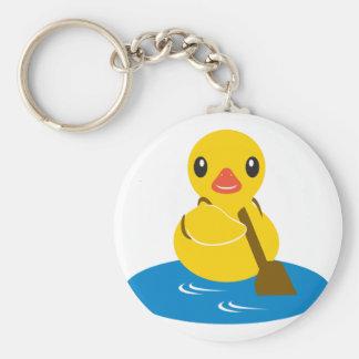 ABC Animals - Paddle Duck Basic Round Button Keychain
