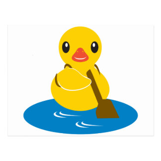 ABC Animals - Paddle Duck Post Card