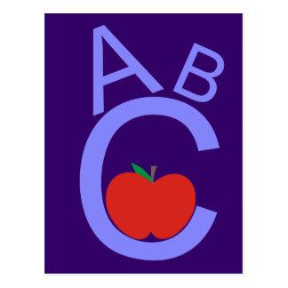 ABC Apple Postcard