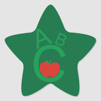 ABC Apple Star Sticker