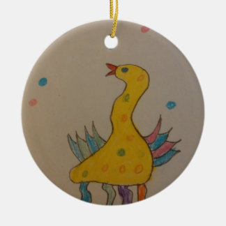 #ABC Art by Children, Easter Duck Double-Sided Ceramic Round Christmas Ornament