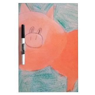 #ABC Art by Children, Pink Orange Pig Dry Erase Board