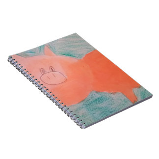 #ABC Art by Children, Pink Orange Pig Spiral Notebook
