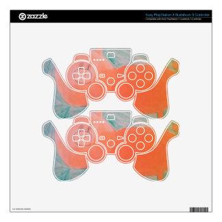 #ABC Art by Children, Pink Orange Pig PS3 Controller Skin