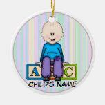ABC Baby Boy Ornament