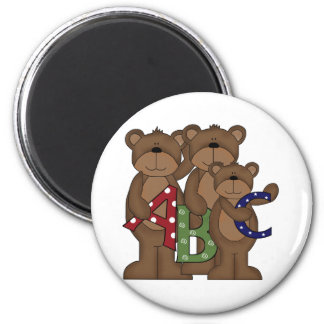 ABC Bears 2 Inch Round Magnet