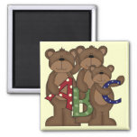 ABC Bears Tshirts and Gifts 2 Inch Square Magnet