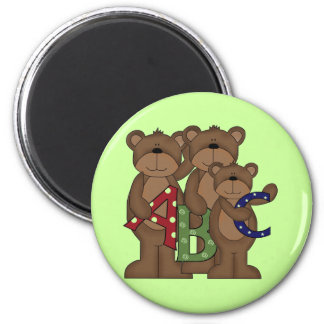ABC Bears Tshirts and Gifts Refrigerator Magnets