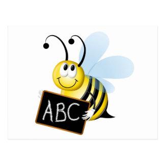 abc Bee Post Card