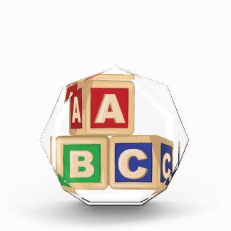 ABC Blocks Acrylic Award