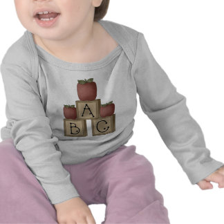 ABC Blocks and Apples T-shirts